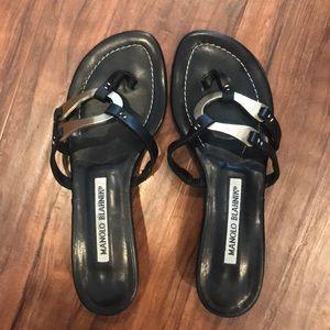 🖤Manolo Blahnik black sandals size 35🖤